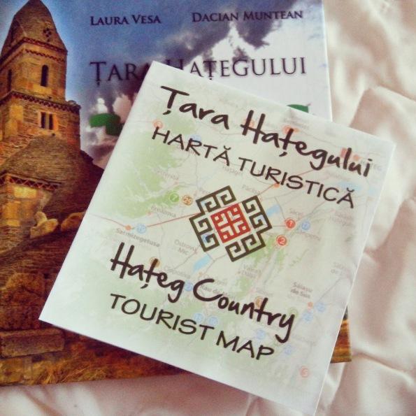 Harta turistica Tara Hategului, Romania
