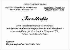 Invitatie , Gala poeziei romanesti