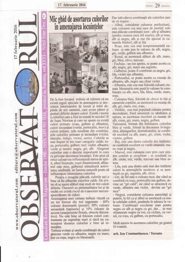 Articolul din Februarie