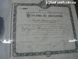 Diploma sde absolvire a Liceului Sf. Sava din Bucureși